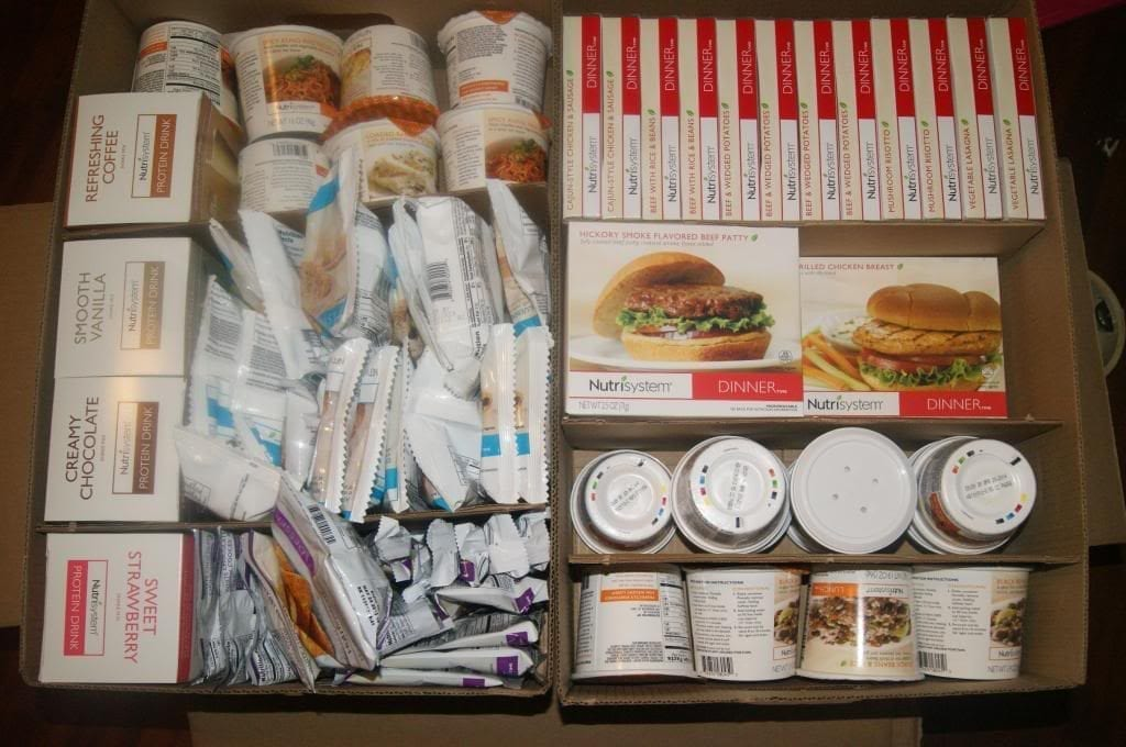 nutrisystem review food box