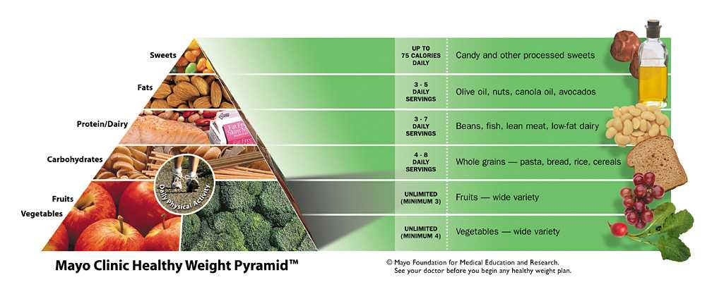 the mayo clinic diet review food pyramid