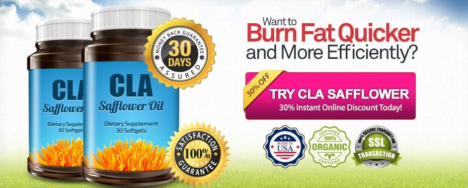 new cla safflower oil discount banner