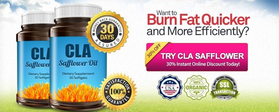 new cla safflower oil discount banner