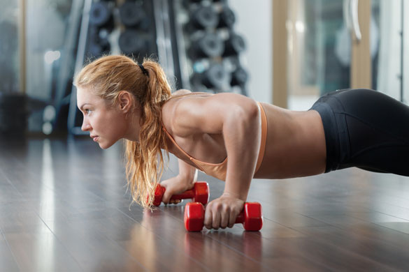 Lifted Push-Ups