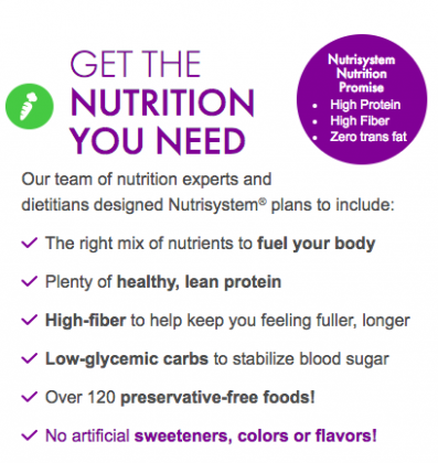 nutrisystem turbo 13 nutrition facts